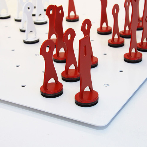 chess set modern living room