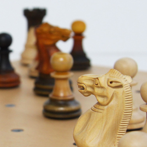 chess set handcarved