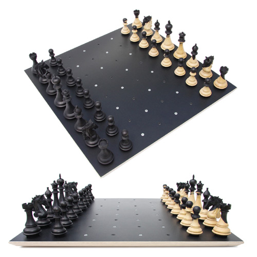 Amazing chess set Chess on Dots