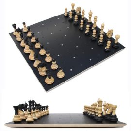 Unique chess set Chess on Dots