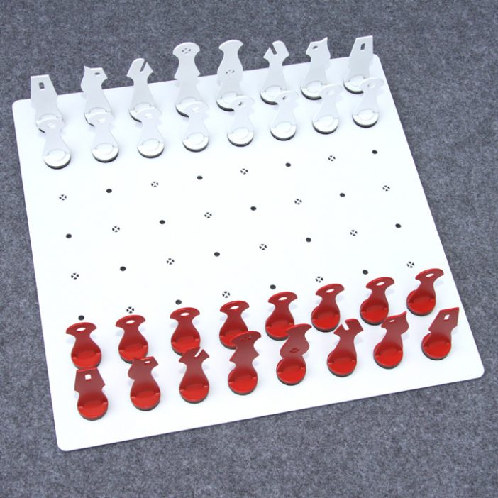 chess set ideas worked out in a metal chess set